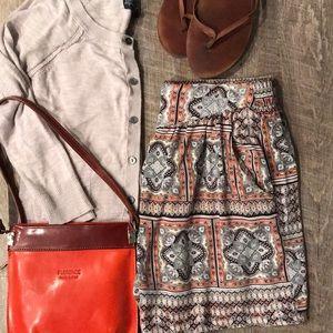 Patterned rayon shorts